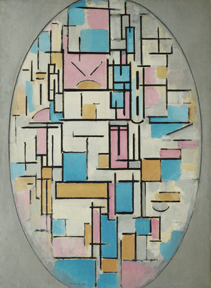 Composition in Oval with Color Planes 1 Piet Mondrian