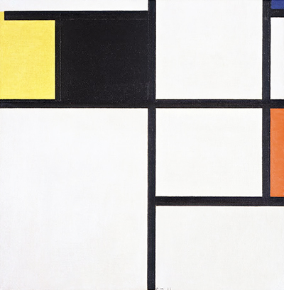 Tableau (Yellow, Black, Blue, Red and Grey) Piet Mondrian